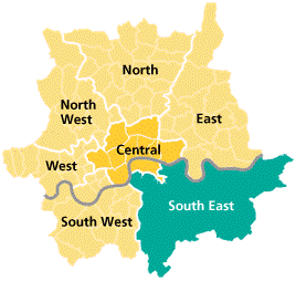 South East London Map.Sustainability And Transformation Plan Stp Healthwatch Bromley
